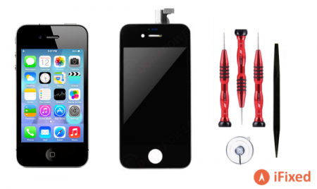 iPhone 4 black LCD repair kit by iFixed