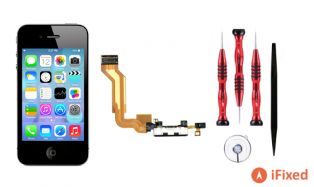 iPhone 4s black Charging port repair replacement kit